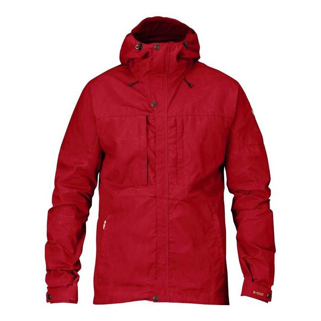 Men Fjallraven SKOGSÖ JACKET DEEP RED Outlet Online