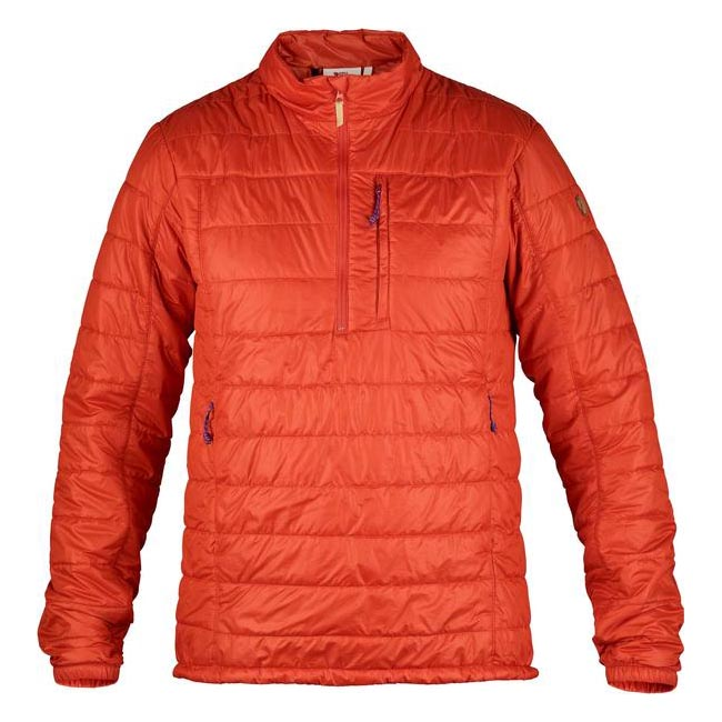 Men Fjallraven ABISKO PADDED PULLOVER FLAME ORANGE Outlet Online