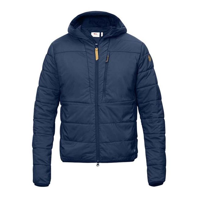 Men Fjallraven KEB PADDED HOODIE BLUEBERRY Outlet Online