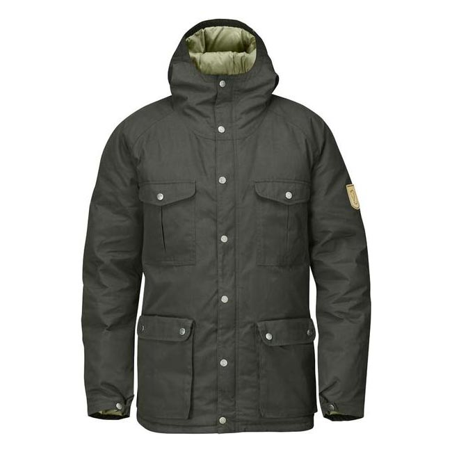 Men Fjallraven GREENLAND DOWN JACKET MOUNTAIN GREY Outlet Online