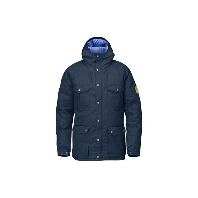 Men Fjallraven GREENLAND DOWN JACKET UNCLE BLUE Outlet Online