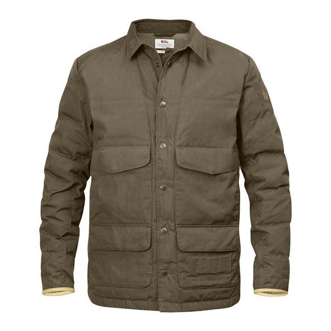 Fjallraven SÖRMLAND DOWN SHIRT JACKET Men TAUPE Outlet Store
