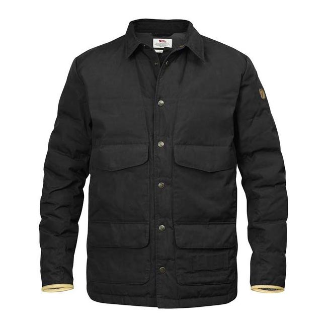 Men Fjallraven SÖRMLAND DOWN SHIRT JACKET DARK GREY Outlet Online