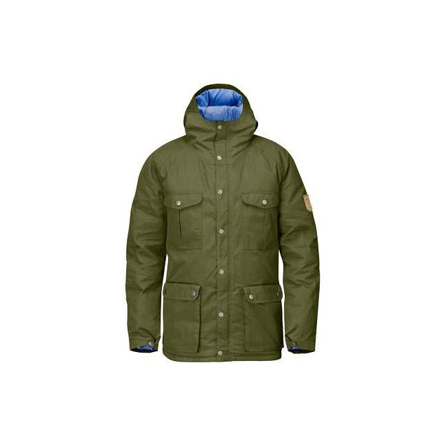 Men Fjallraven GREENLAND DOWN JACKET GREEN Outlet Online