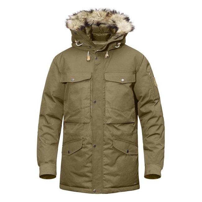 Men Fjallraven SINGI DOWN JACKET SAND Outlet Online