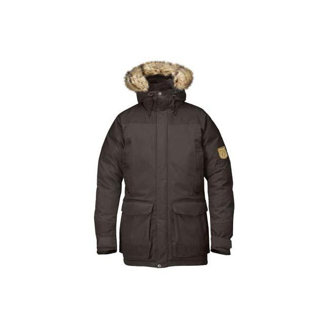 Men Fjallraven KYL PARKA BLACK BROWN Outlet Online