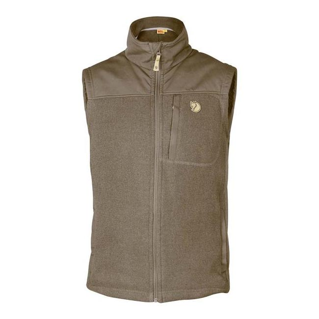 Men Fjallraven BUCK FLEECE VEST TAUPE Outlet Online