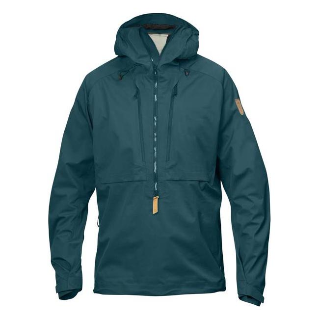 Men Fjallraven KEB ECO-SHELL ANORAK GLACIER GREEN Outlet Online