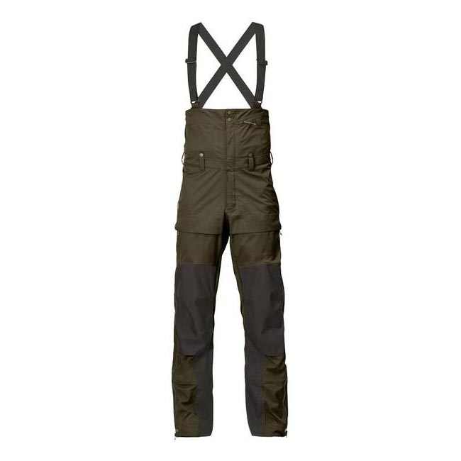 Men Fjallraven KEB ECO-SHELL BIB TROUSERS DARK OLIVE Outlet Online