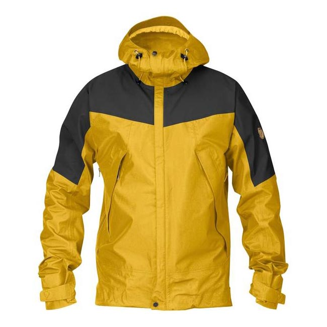 Men Fjallraven ECO-TRAIL JACKET OCHRE Outlet Online