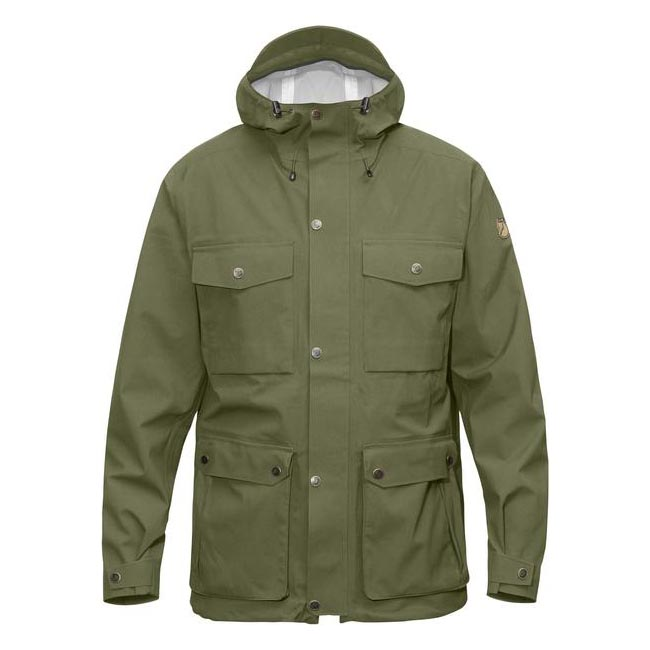 Men Fjallraven ÖVIK ECO-SHELL JACKET GREEN Outlet Online