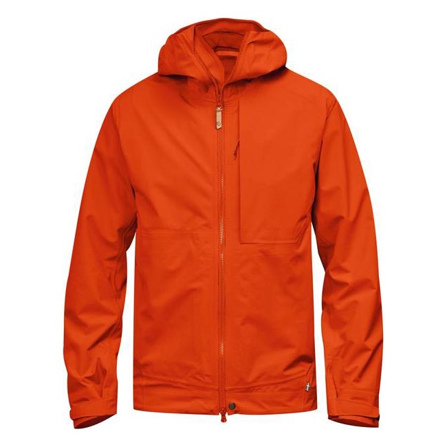 Men Fjallraven ABISKO ECO-SHELL JACKET FLAME ORANGE Outlet Online