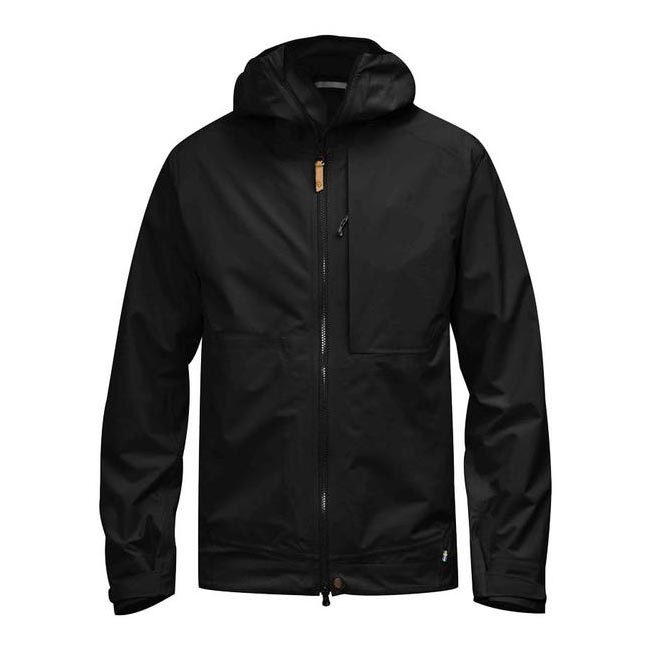 Men Fjallraven ABISKO ECO-SHELL JACKET BLACK Outlet Online