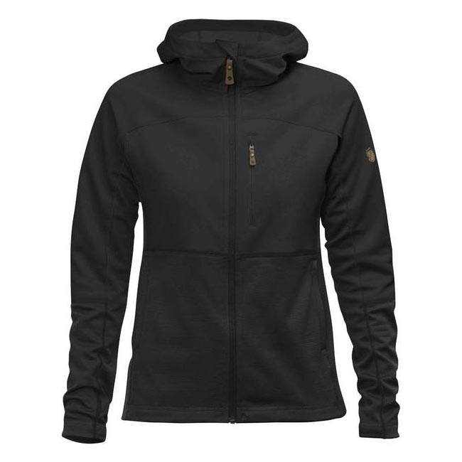 Women Fjallraven ABISKO TRAIL FLEECE W BLACK  Factory Outlet