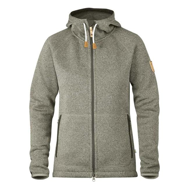 Women Fjallraven OVIK FLEECE HOODIE W FOG Factory Outlet