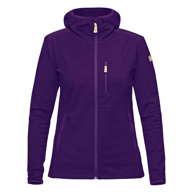 Women Fjallraven KEB FLEECE HOODIE W PURPLE  Outlet Online