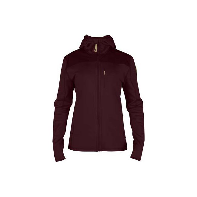 Women Fjallraven KEB FLEECE JACKET W DARK GARNET  Factory Outlet