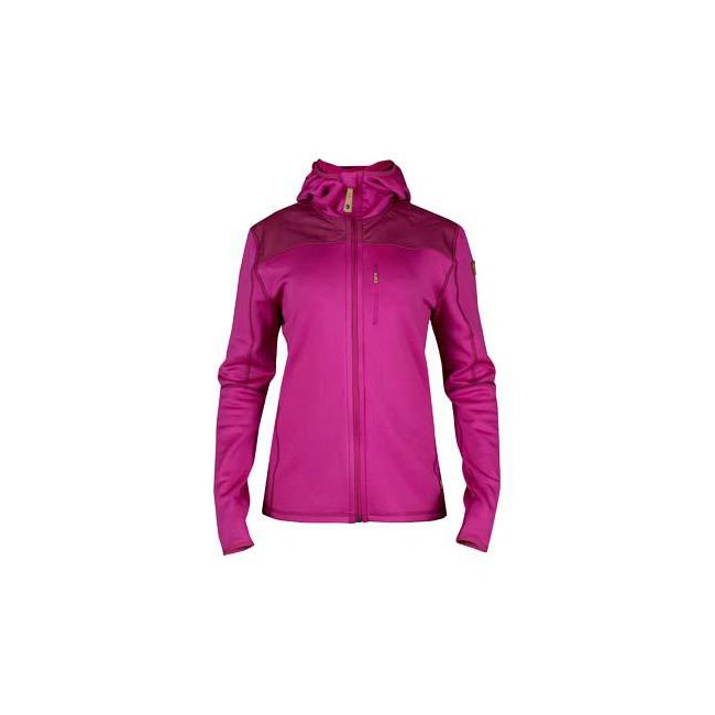 Women Fjallraven KEB FLEECE JACKET W FUXIA Outlet Online