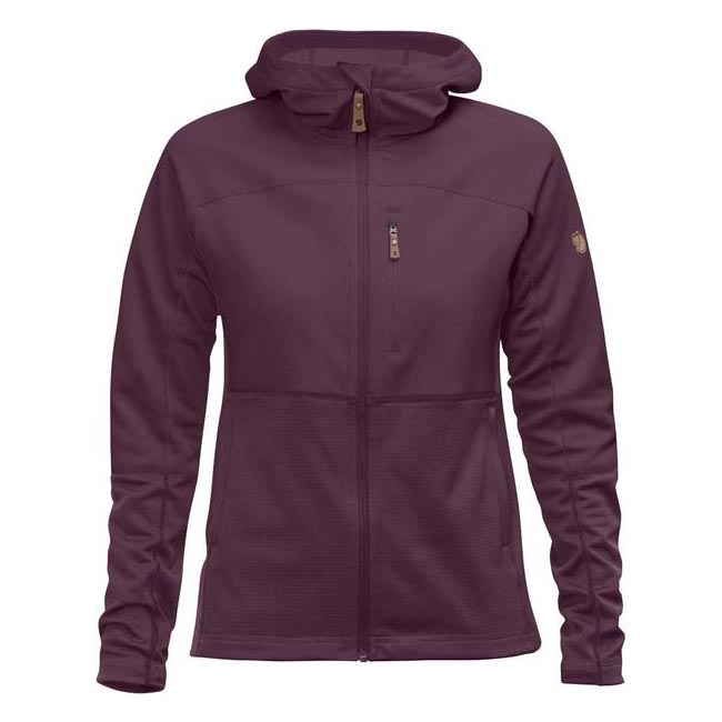 Women Fjallraven ABISKO TRAIL FLEECE W PLUM  Factory Outlet