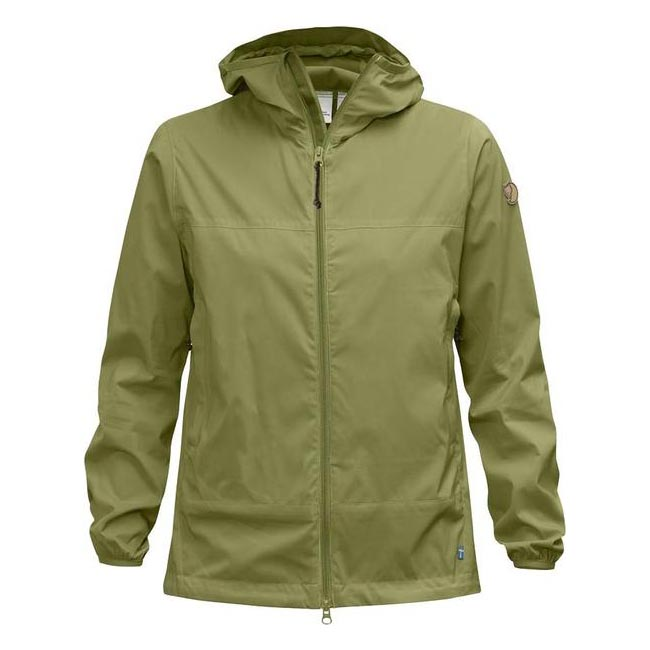 Women Fjallraven ABISKO WINDBREAKER JACKET W MEADOW GREEN Outlet Online