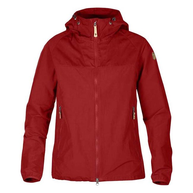 Women Fjallraven ABISKO HYBRID JACKET W RED Outlet Online