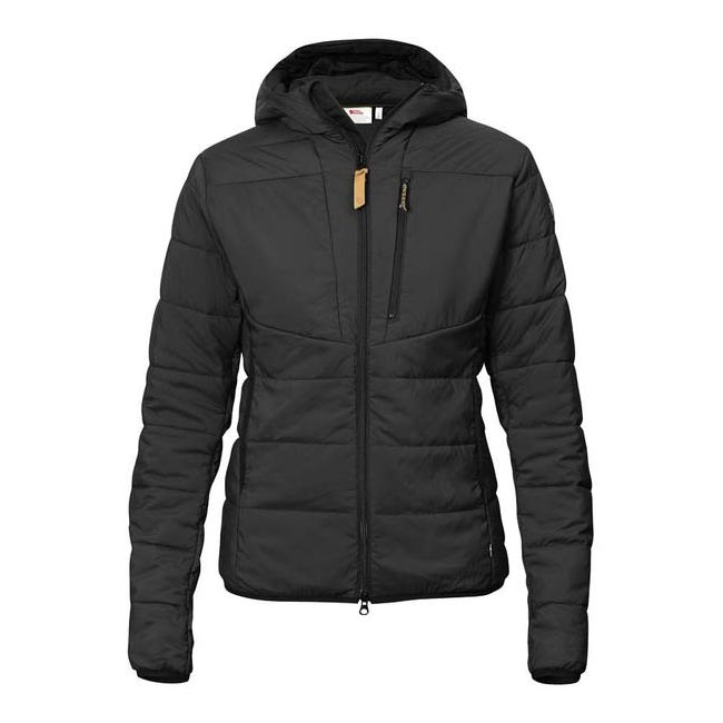 Women Fjallraven KEB PADDED HOODIE W BLACK Outlet Online