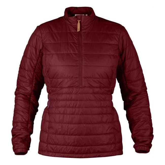Women Fjallraven ABISKO PADDED PULLOVER W OX RED Outlet Online
