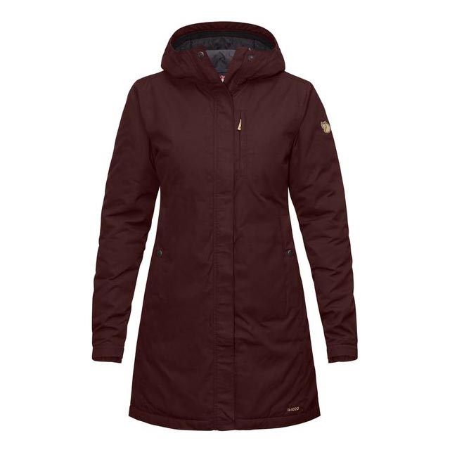 Cheap Fjallraven Women BURNT RED  KIRUNA PADDED PARKA W Online