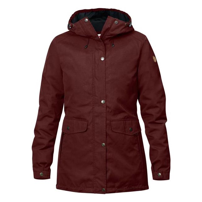 Women Fjallraven ÖVIK 3 IN 1 PARKA W BURNT RED Outlet Online