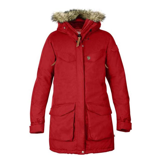 Women Fjallraven NUUK PARKA RED Outlet Online