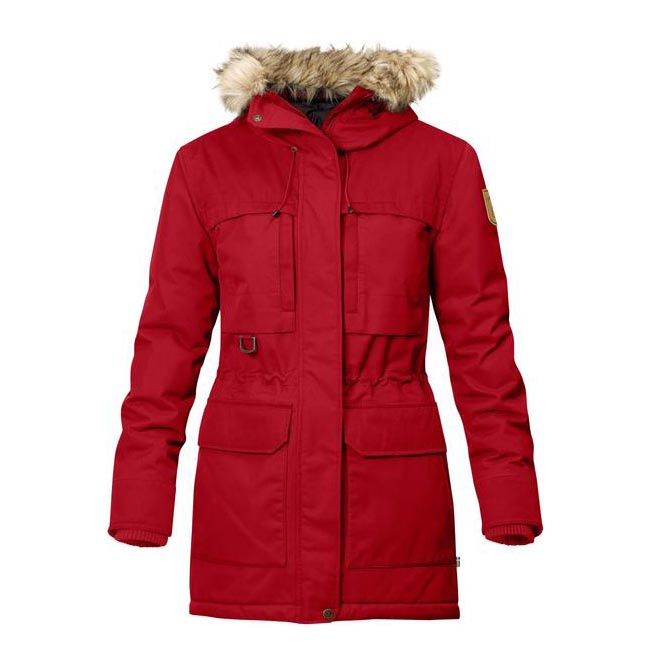 Women Fjallraven POLAR GUIDE PARKA W DEEP RED Outlet Online