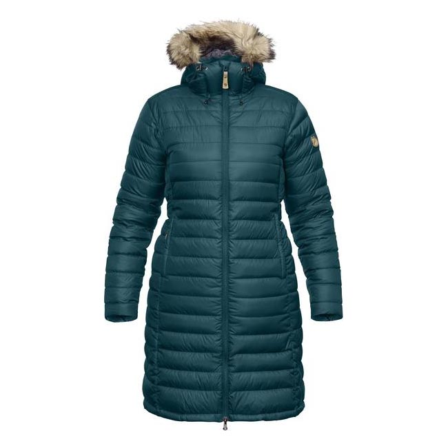 Women Fjallraven ÖVIK DOWN PARKA W GLACIER GREEN Outlet Online