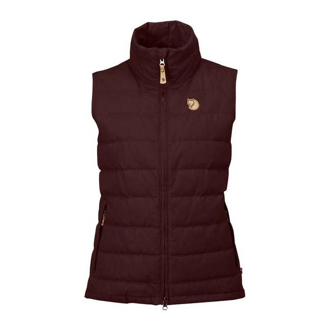 Women Fjallraven OVIK LITE VEST W BURNT RED  Outlet Online