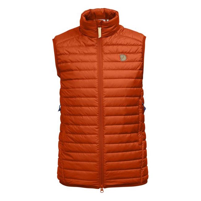Women Fjallraven ABISKO PADDED VEST W FLAME ORANGE  Outlet Online