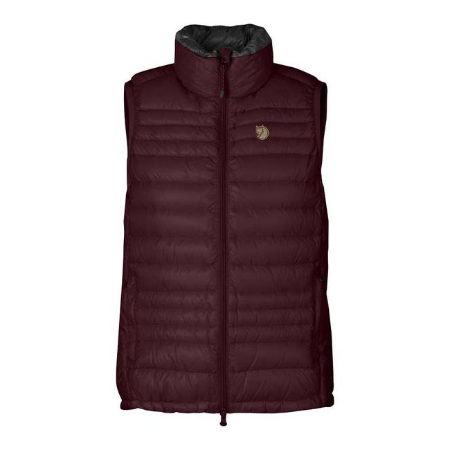 Women Fjallraven PAK DOWN VEST WOMEN'S DARK GARNET Outlet Online