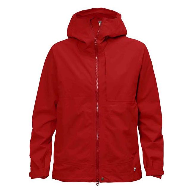 Women Fjallraven ABISKO ECO-SHELL JACKET W RED Outlet Online