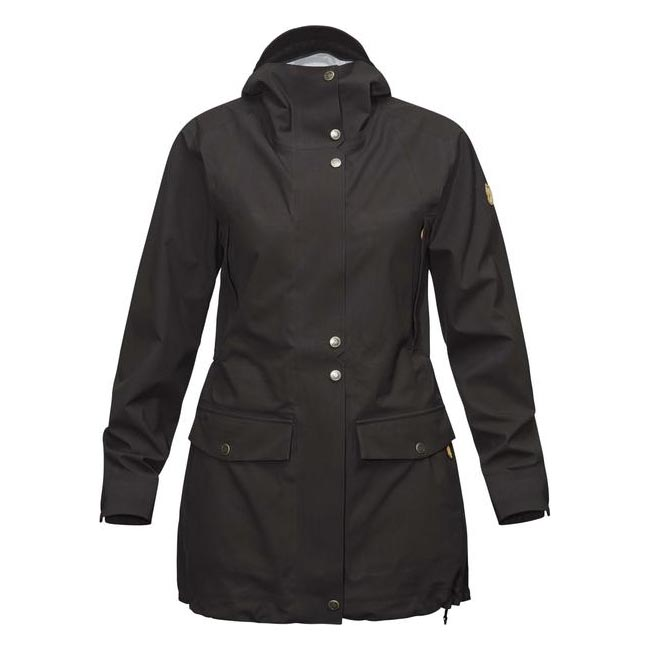 Women Fjallraven ÖVIK ECO-SHELL PARKA W BLACK  Outlet Online