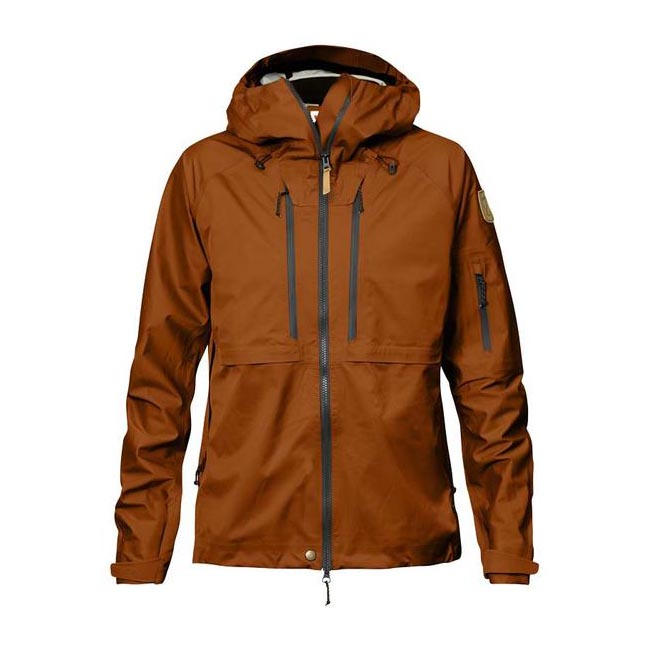 Women Fjallraven KEB ECO-SHELL JACKET W AUTUMN LEAF  Outlet Online