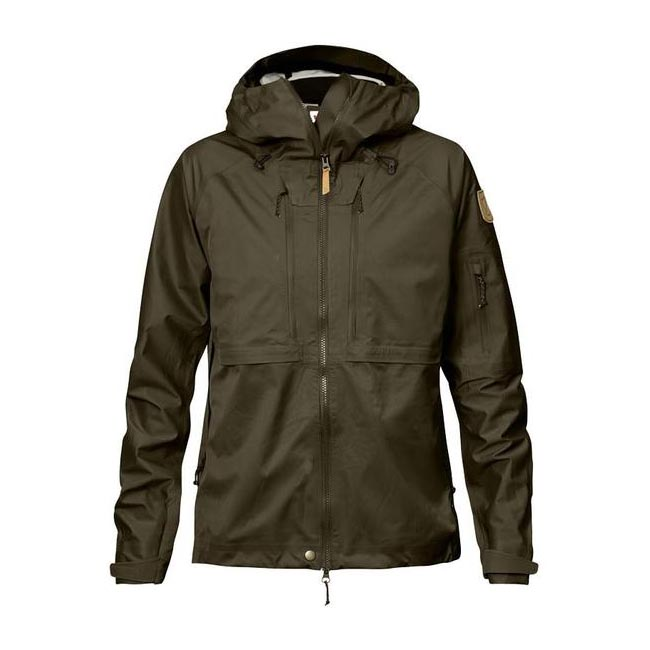 Fjallraven Women KEB ECO-SHELL JACKET W DARK OLIVE  On Sale